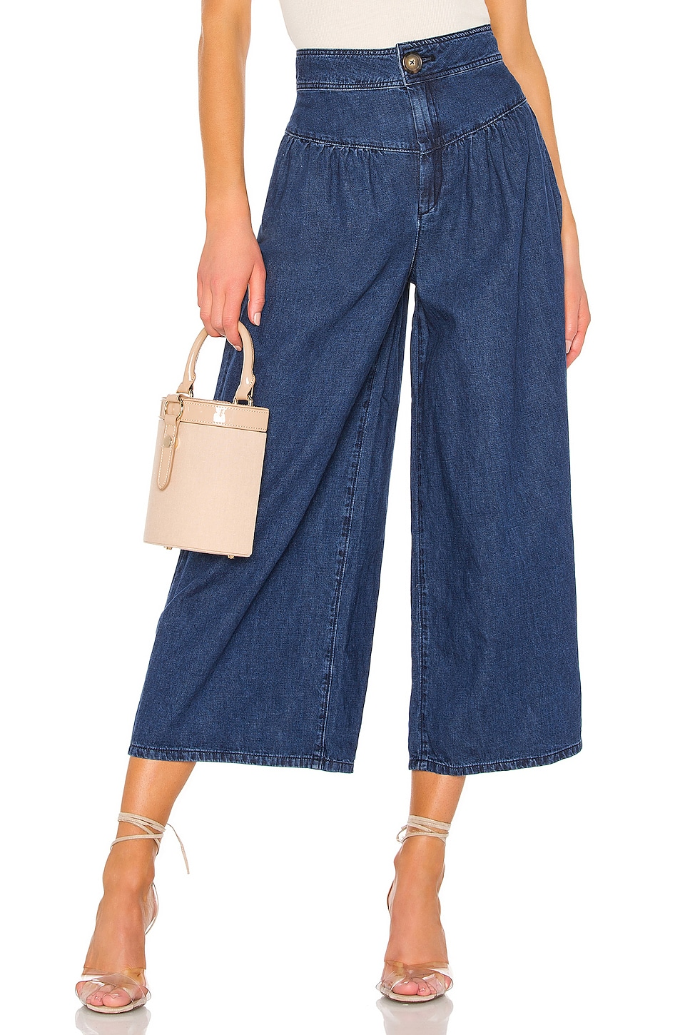 Free People La Bomba Wide Leg Jean in Dark Blue