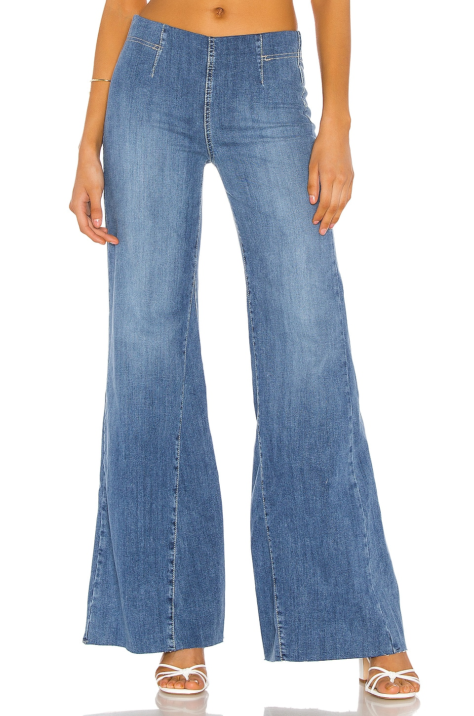 Free People Jeans Drapey A Line Pull On Jean