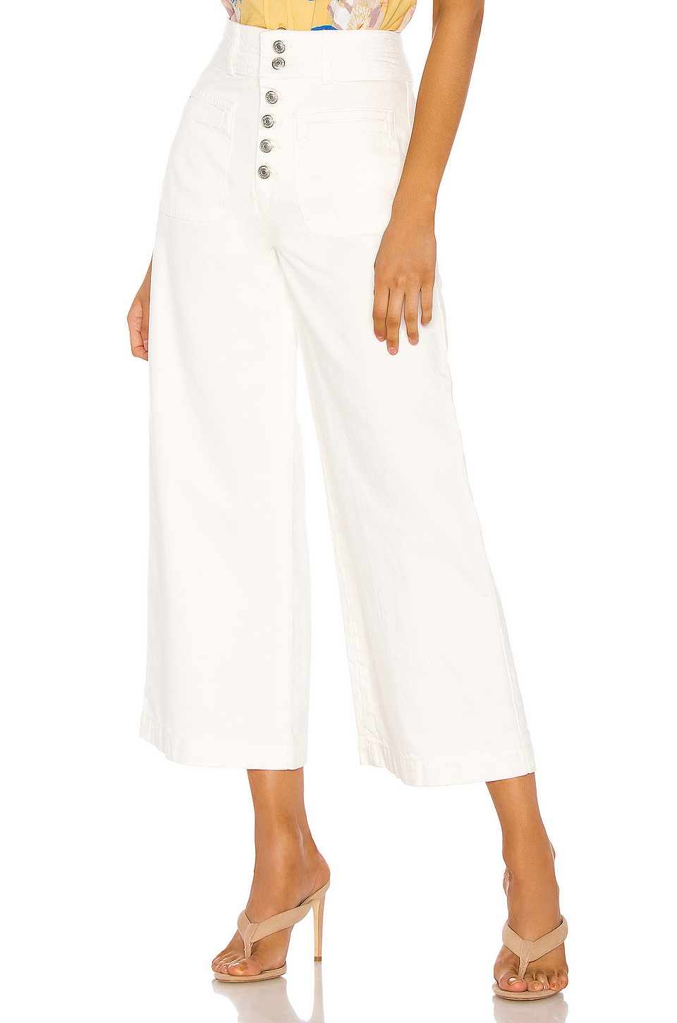 Free People Colette Wide Leg in Ivory