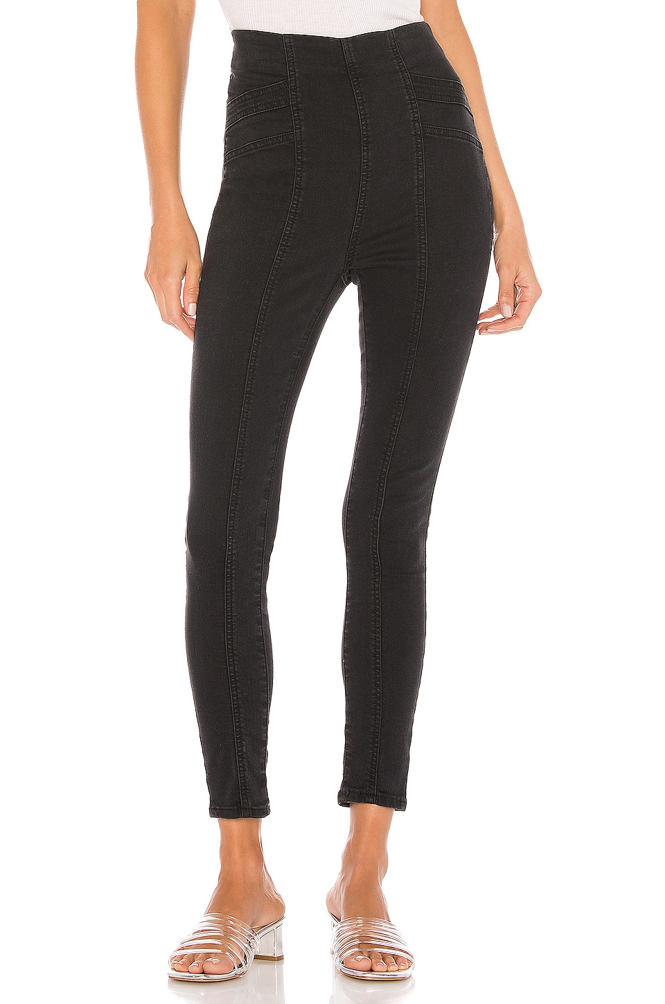 Free People Feel Alright Skinny in Black