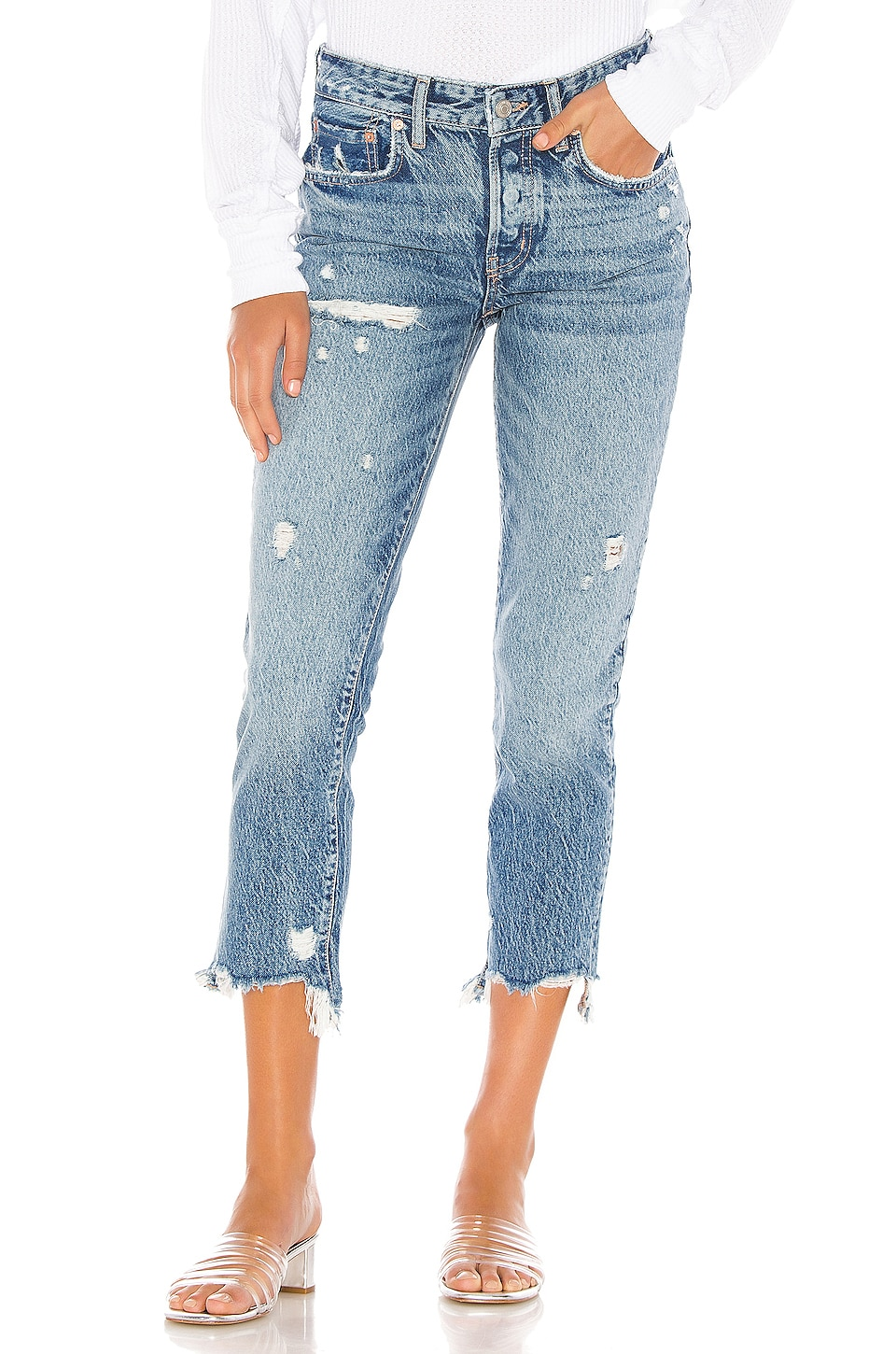 Free People Good Times Relaxed Skinny in Blue