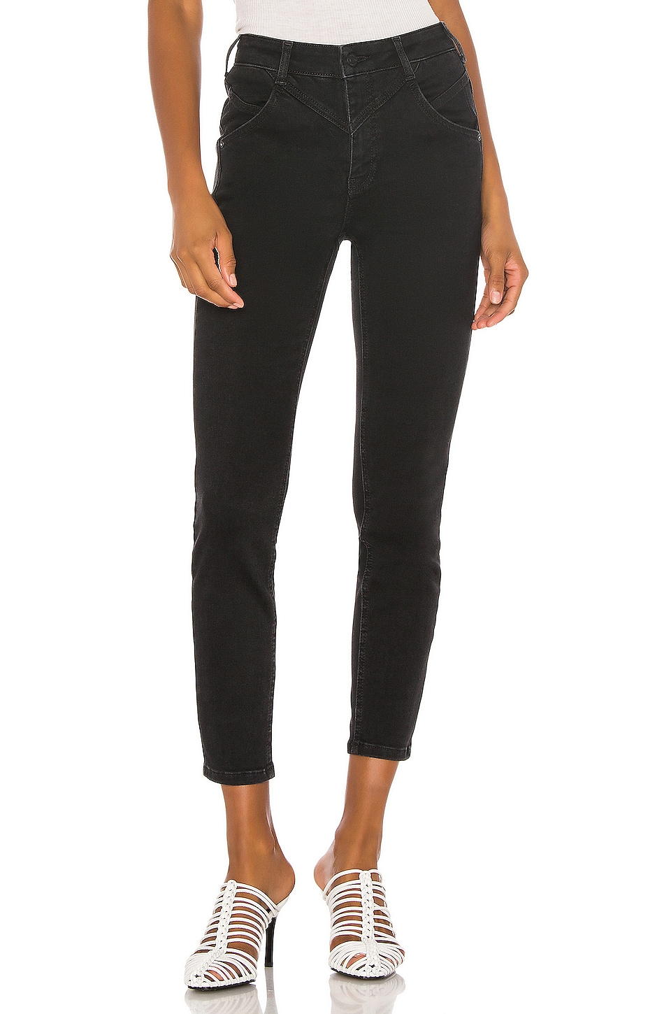 Free People Riley Seamed Skinny in Black