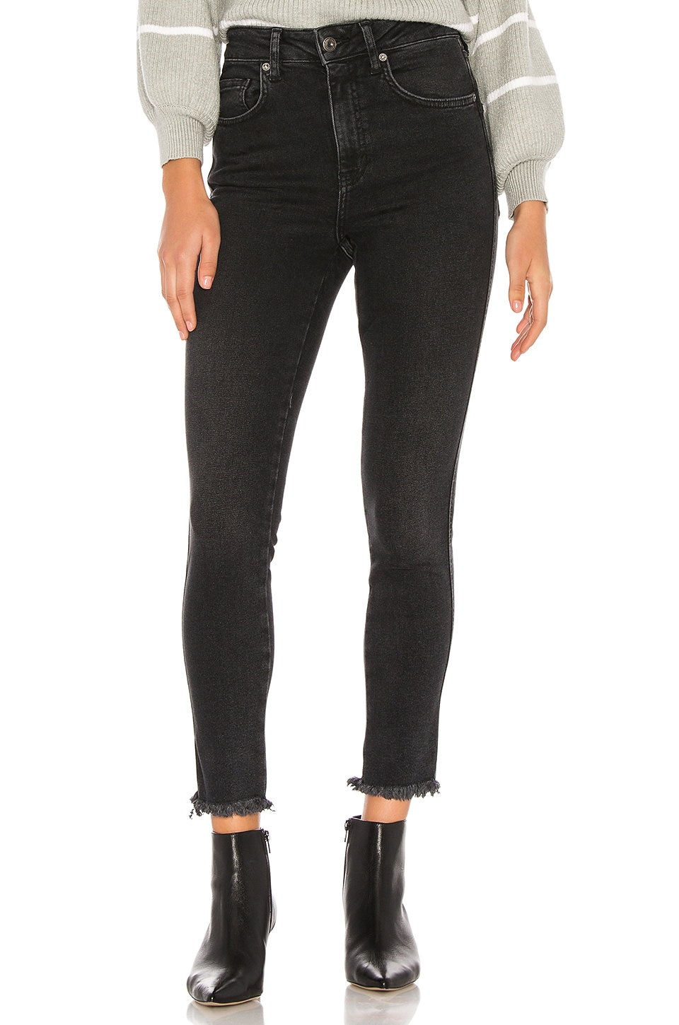 Free People High Rise Jegging in Black