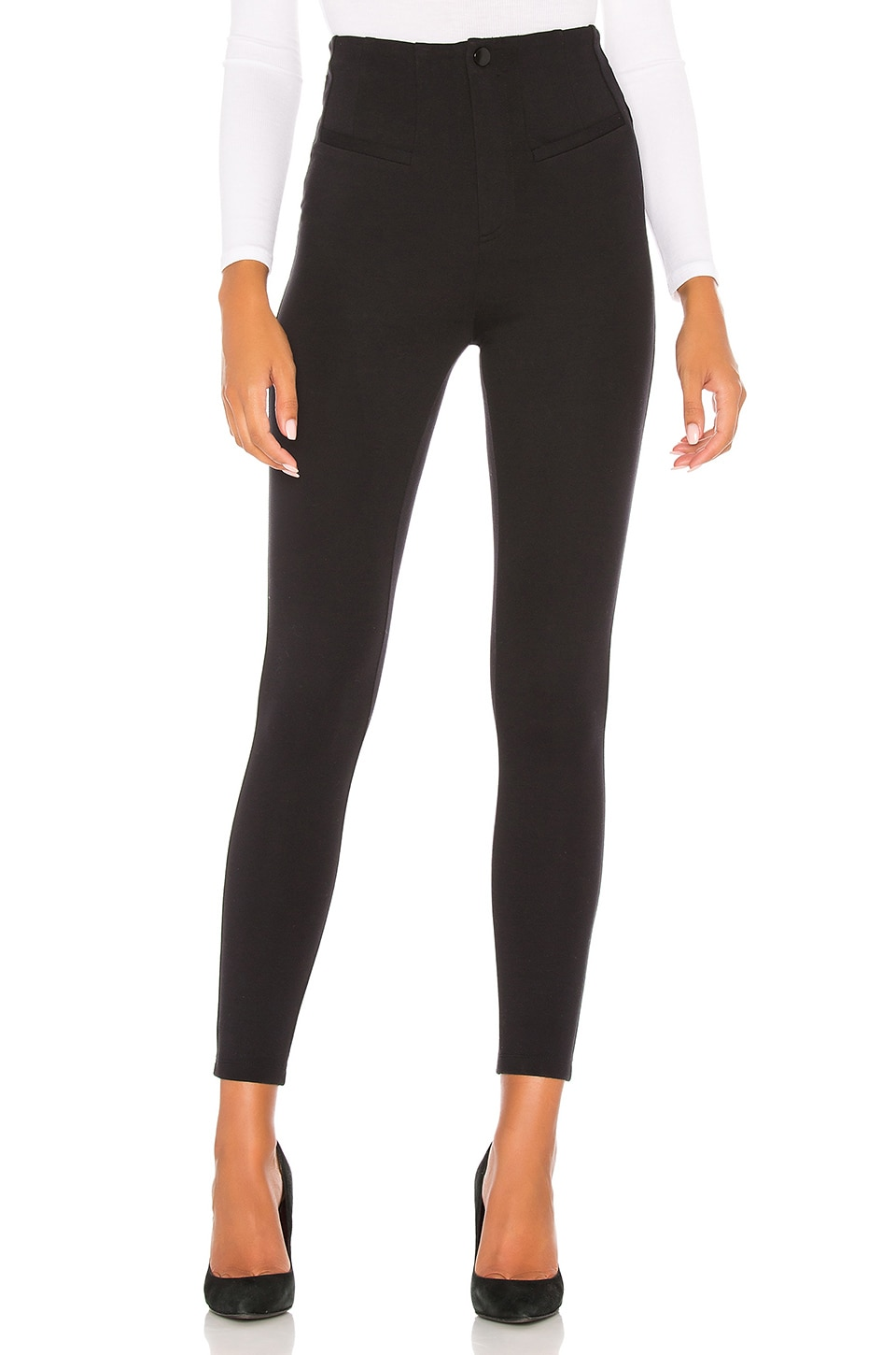 Free People Elena High Rise Skinny Jean in Black