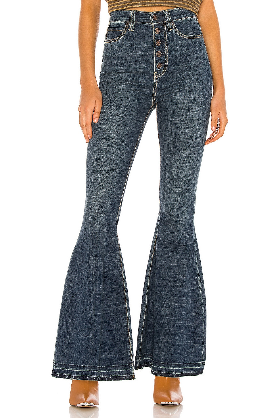 Free People Irreplaceable Flare Jean in Blue