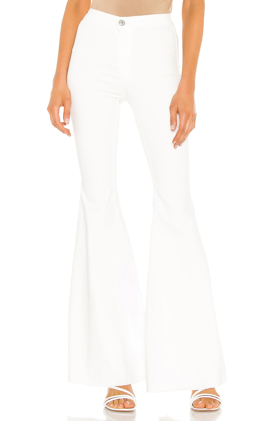 Free People Just Float On Flare Jean in White