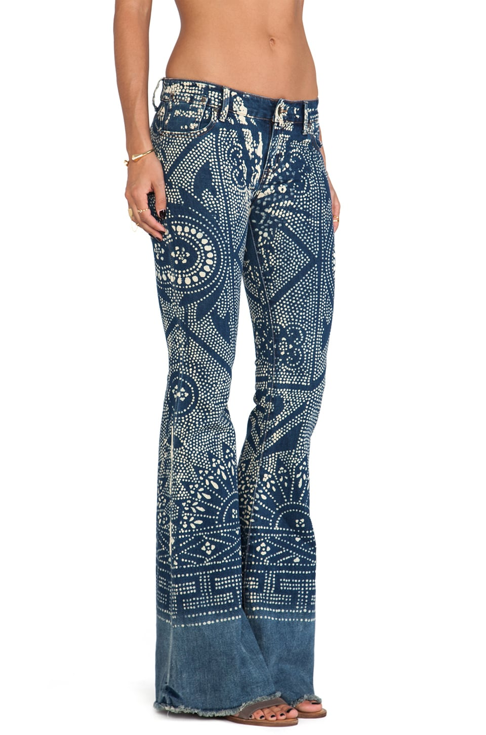 Free People Bali Flare Pant in Malaya Wash
