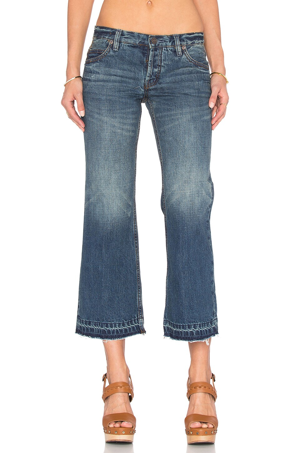 Free People Chelsea Crop Kick Flare Jean in Jacob