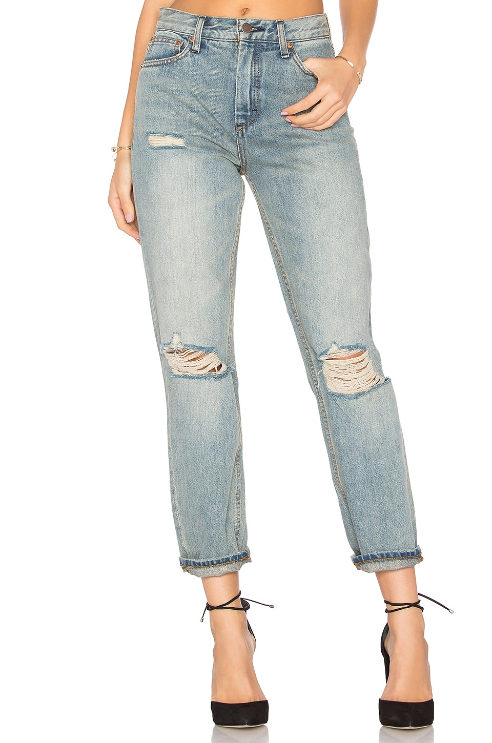 Destroyed Syxx Boyfriend Jeans by Free People