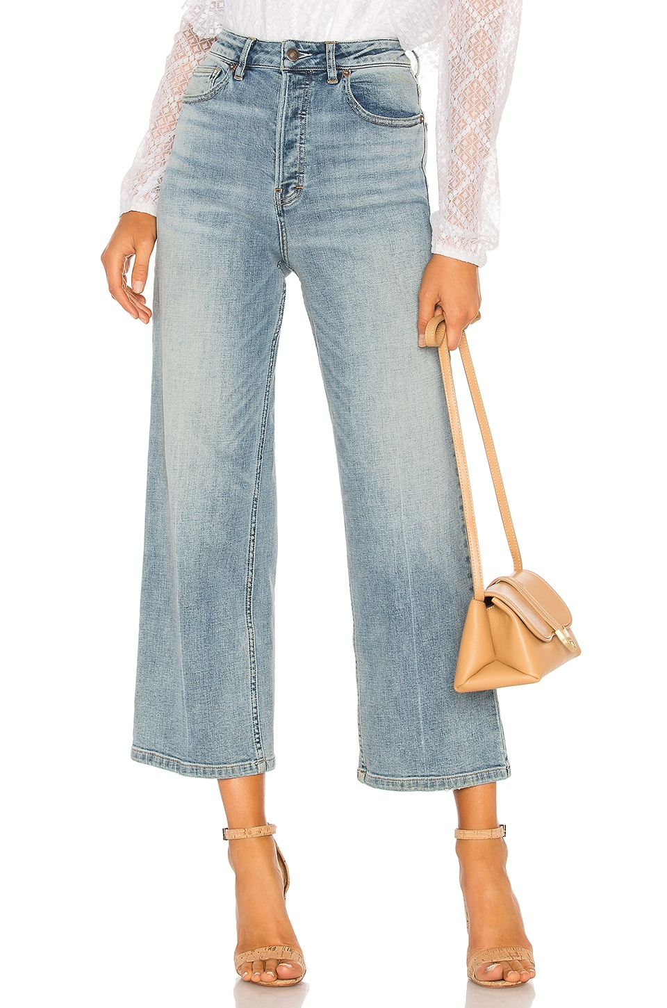 Free People Wales Wide Leg Jean in Blue