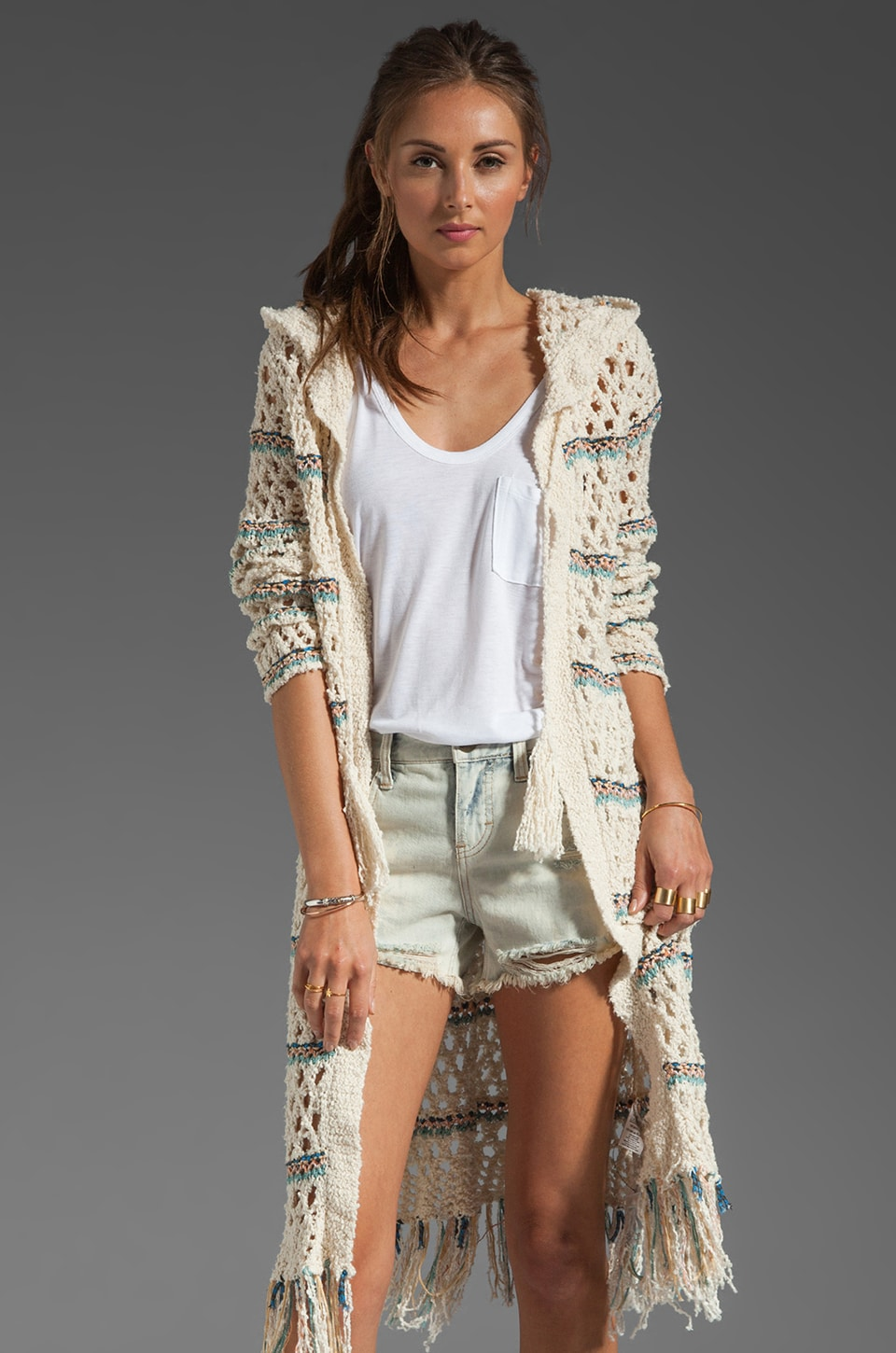 Free People Sunblock Cardi in Ivory