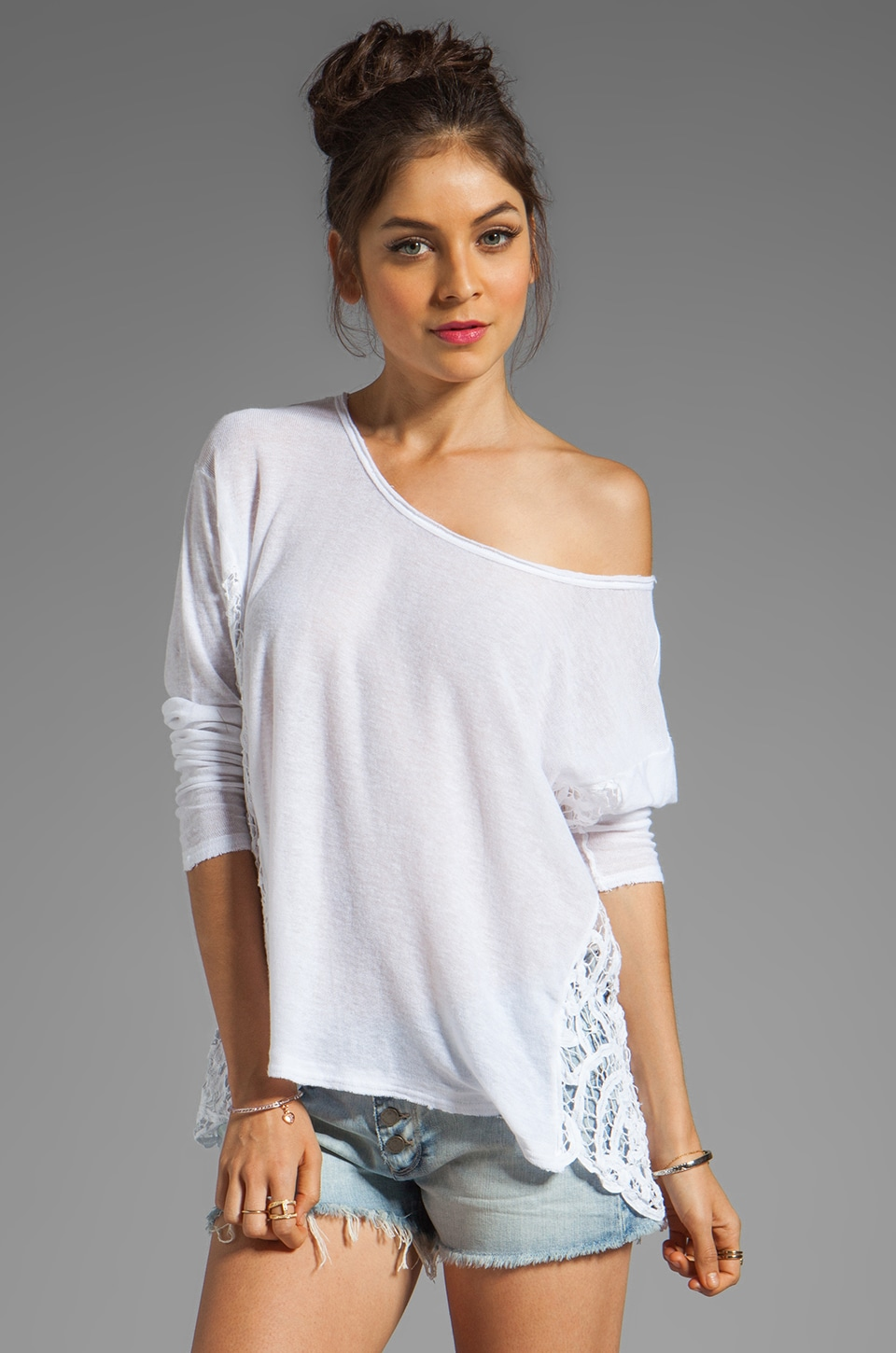 Free People Love Me Do Pullover in White