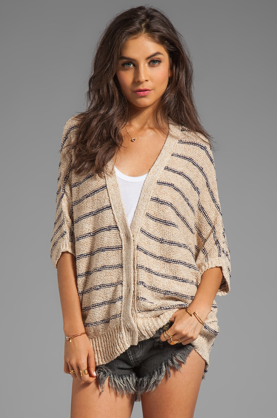Free People Rabbit in the Moon Cardi in Vanilla Combo