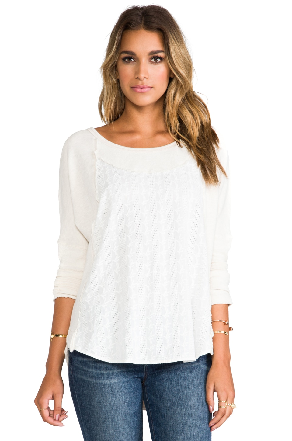 Free People Luella Heavyweight Pullover in Oatmeal