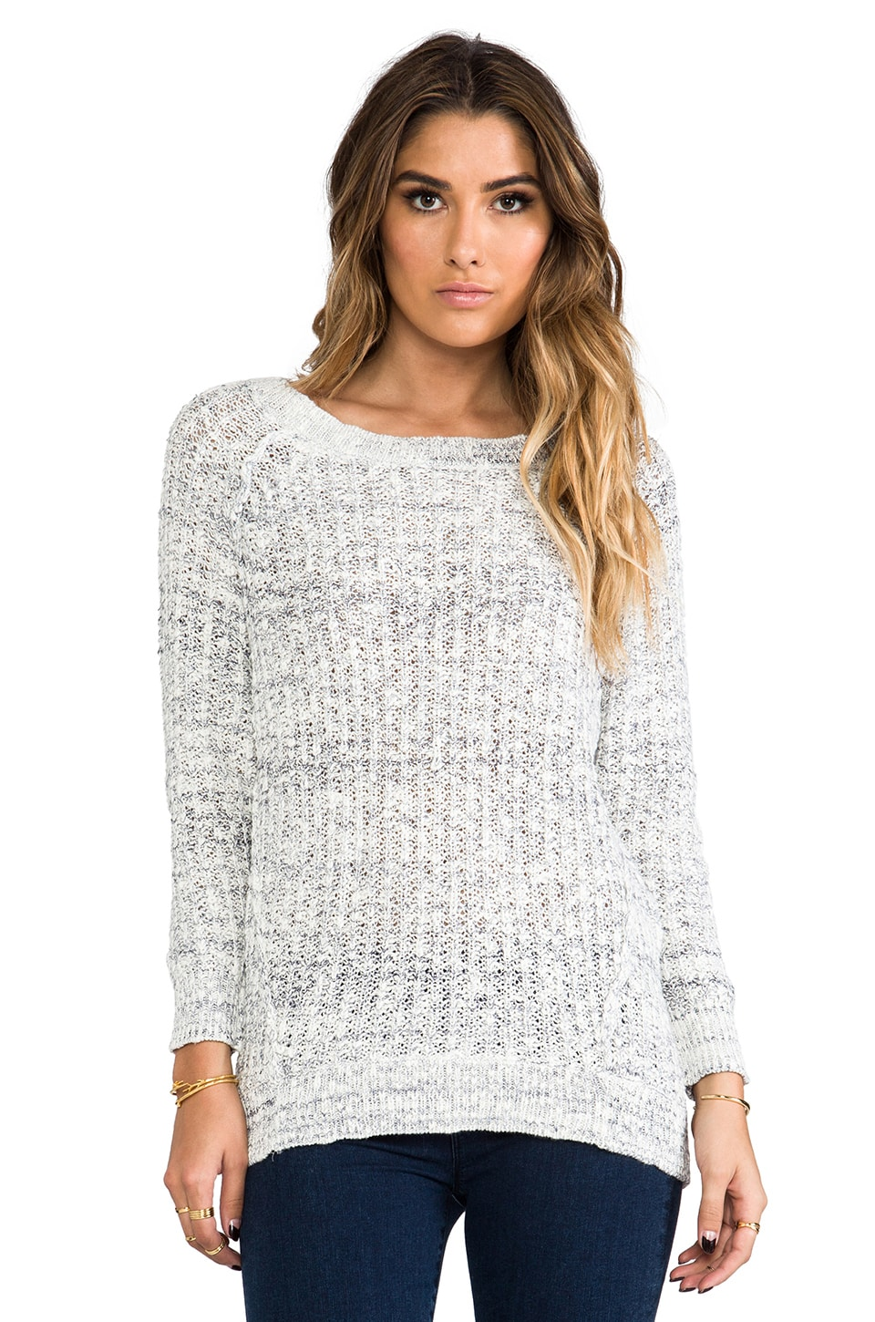 Free People Star Dune Marled Pullover in Ivory Combo