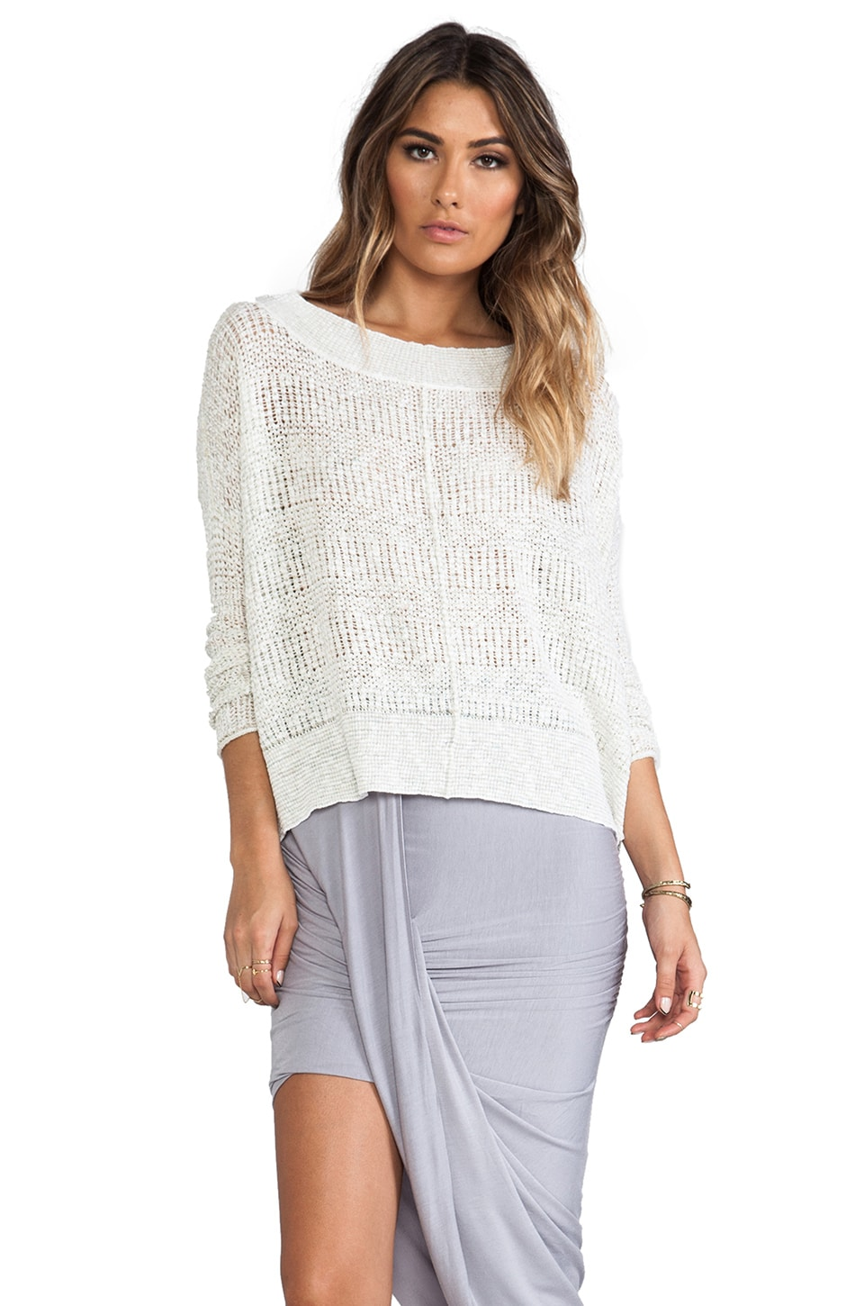 Free People These Days Fine Gauge Pullover in Ivory Combo