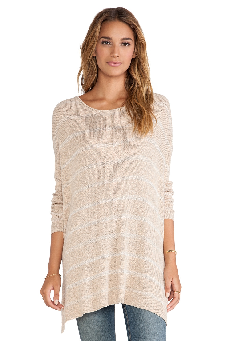 Free People Shipping News Tunic Sweater in Ballet Combo