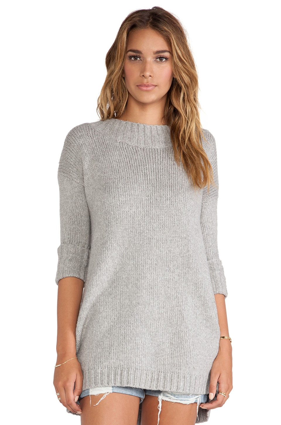 Free People Tricot Pullover in Light Grey | REVOLVE