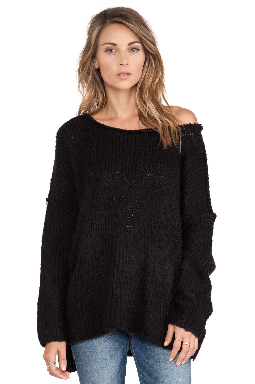Free People Teddy Bear Pullover in Black
