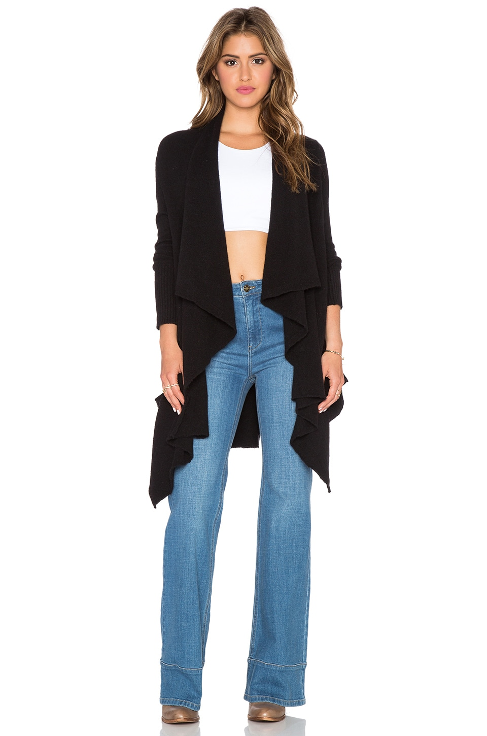 Free People Waterfall Cardigan in Black | REVOLVE