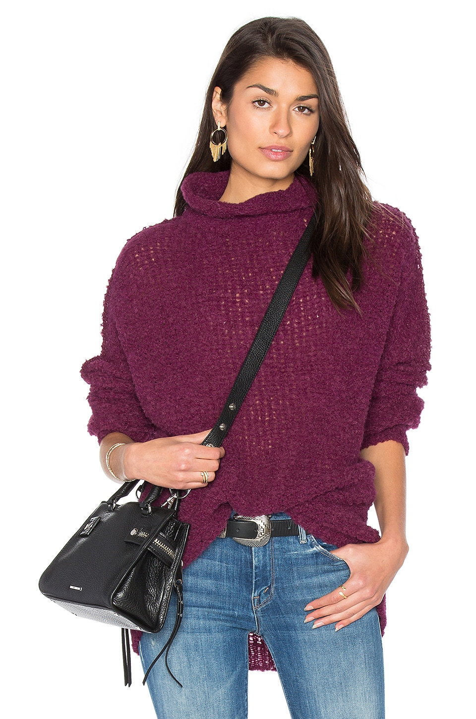 Free People She's All That Sweater in Purple | REVOLVE