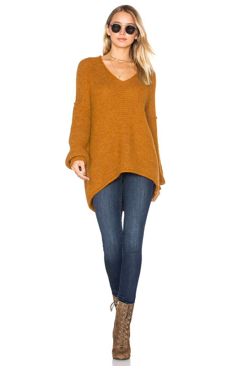 Free People All Mine Sweater in Terracotta
