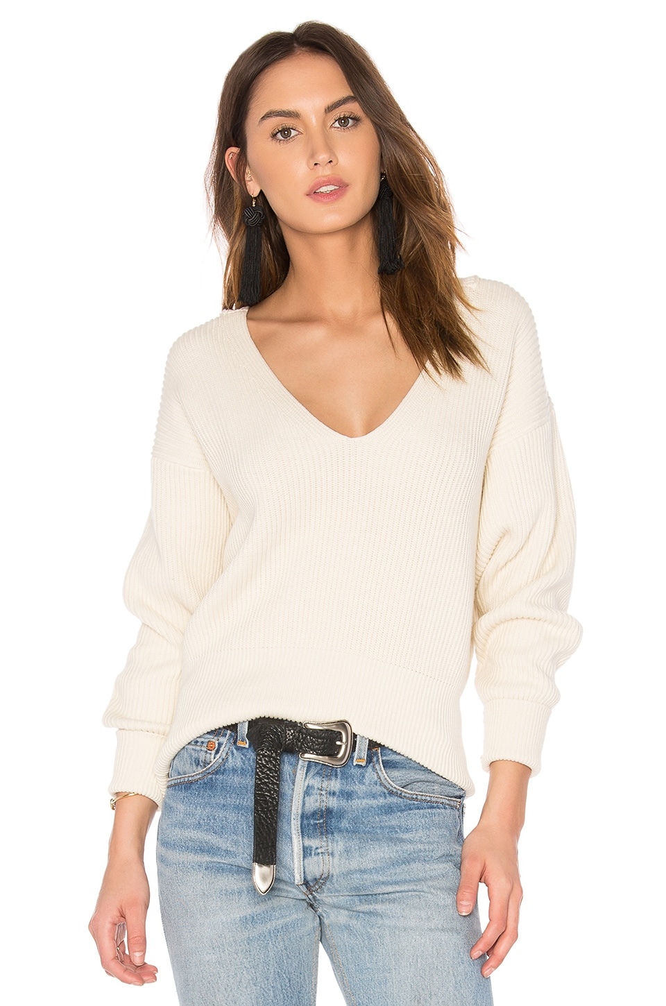 Free People Allure Pullover in Ivory