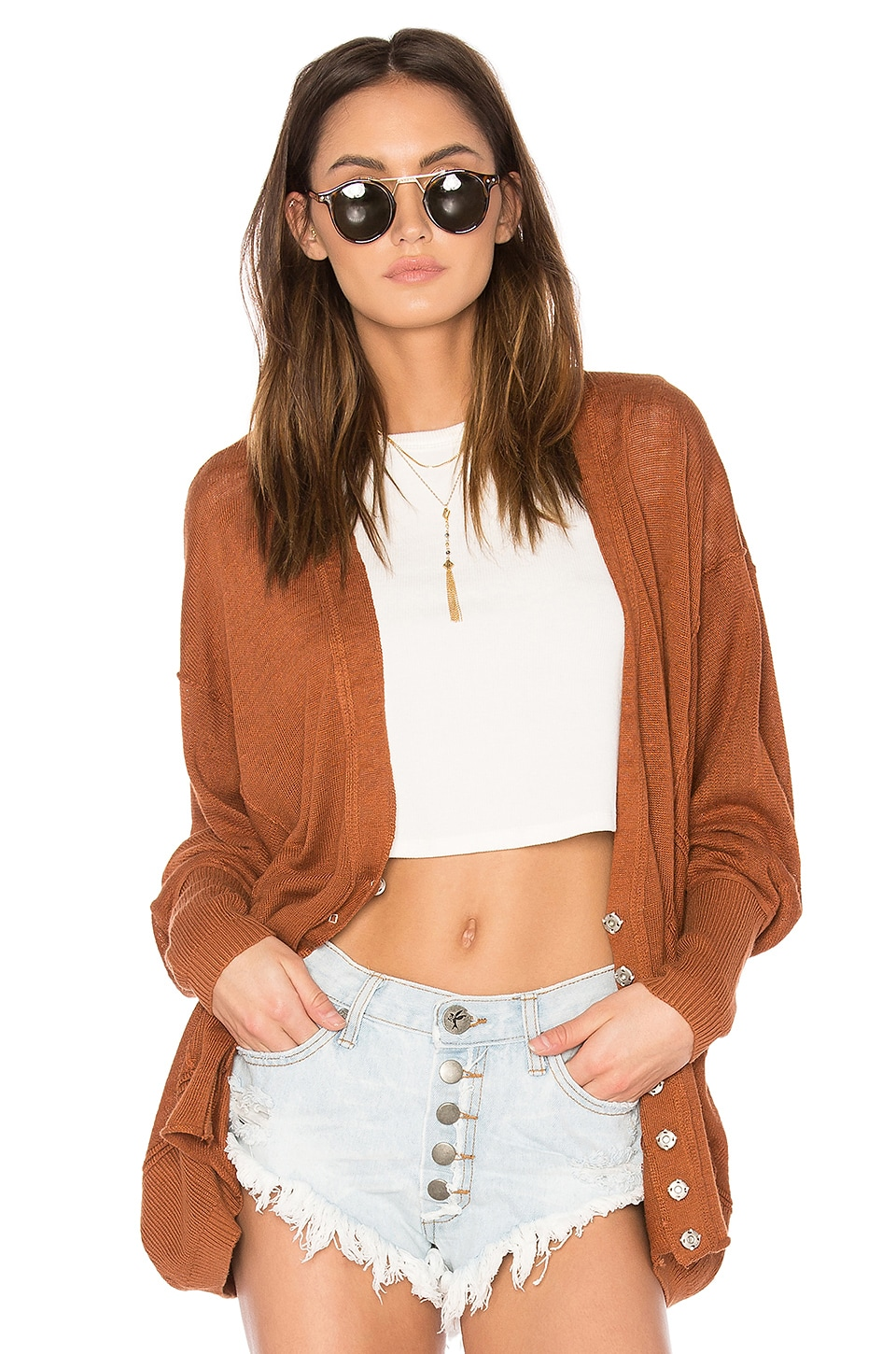 Free People Days Like This Cardi in Brown