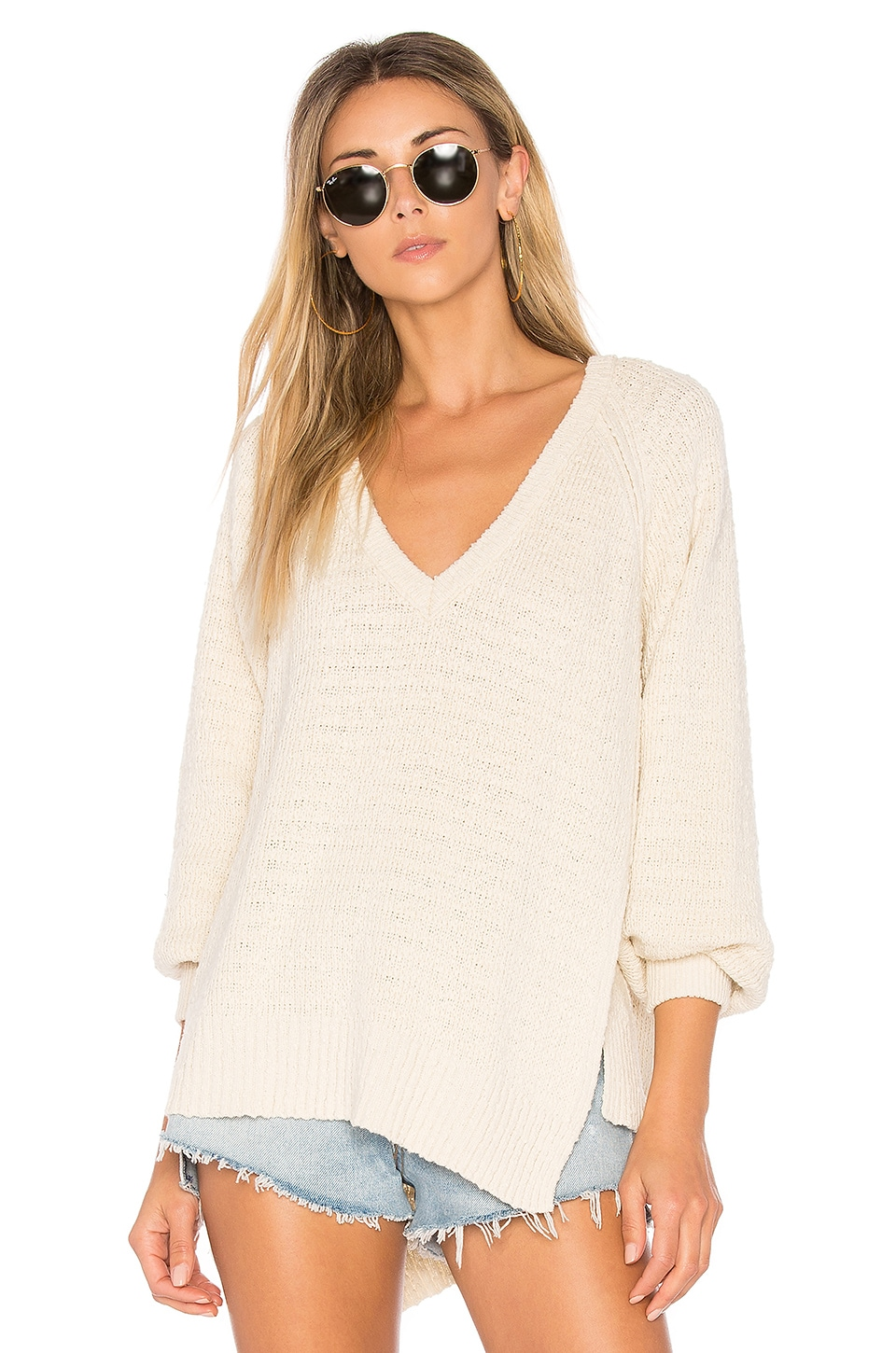 Free People West Coast Pullover in Ivory
