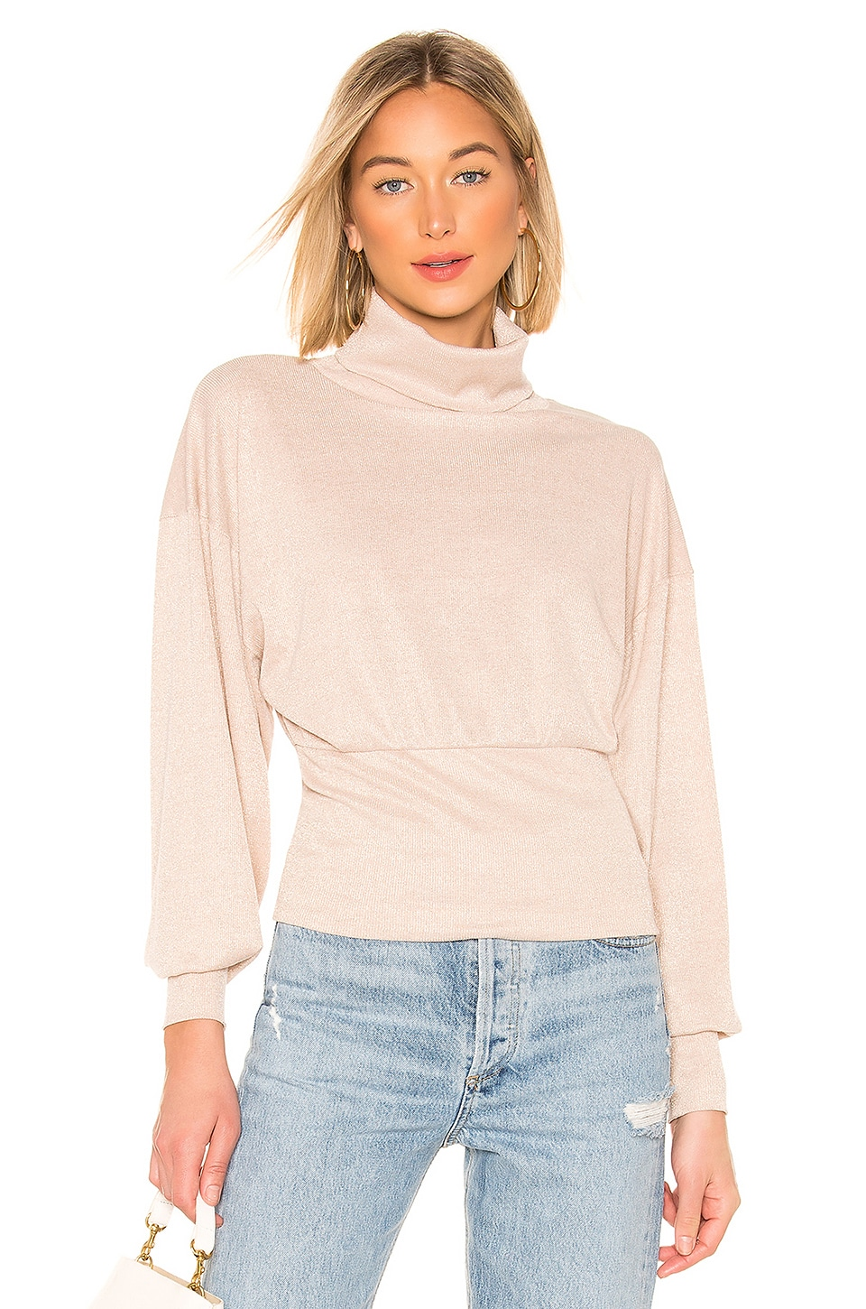 Free People Glam Turtleneck Sweater in Ivory