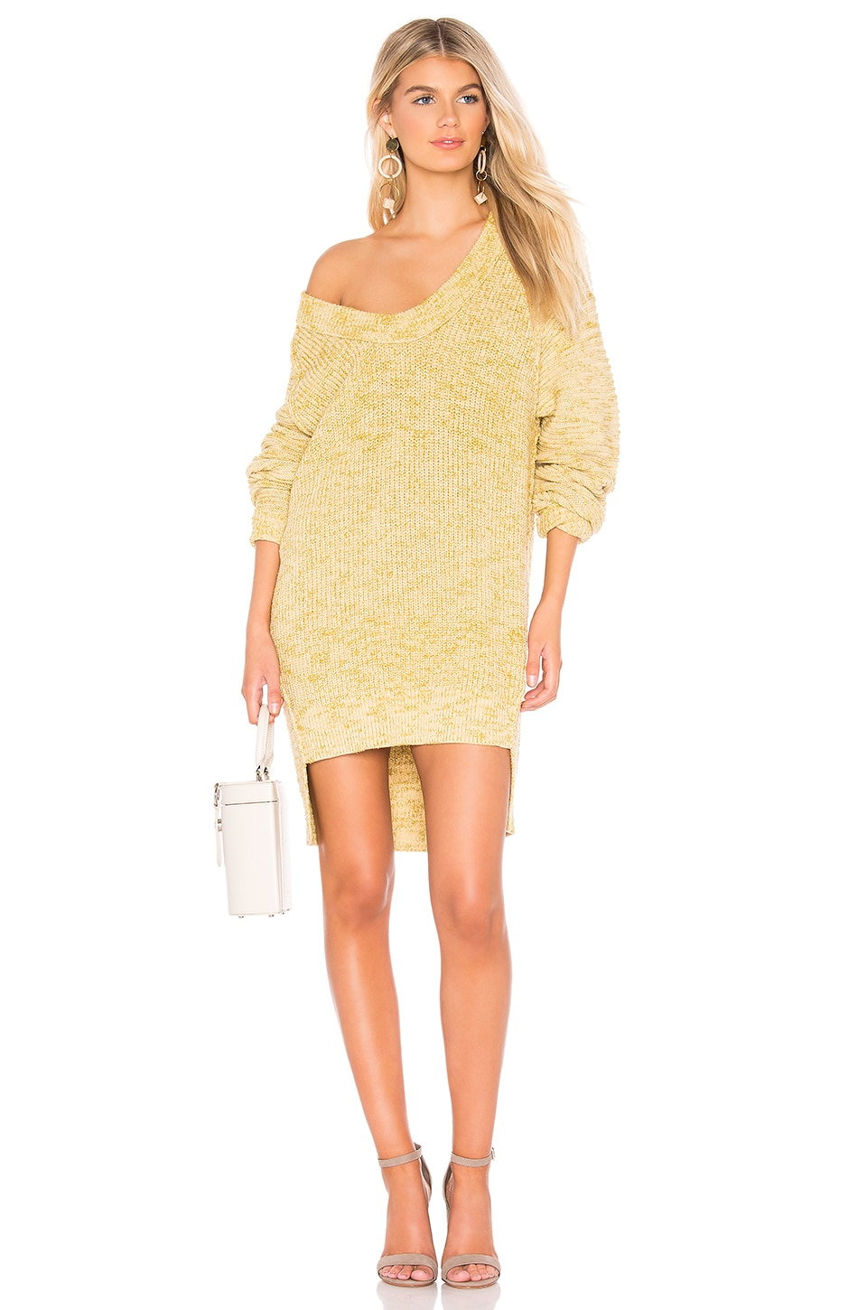 Free People Sunday Sweater in Light Yellow