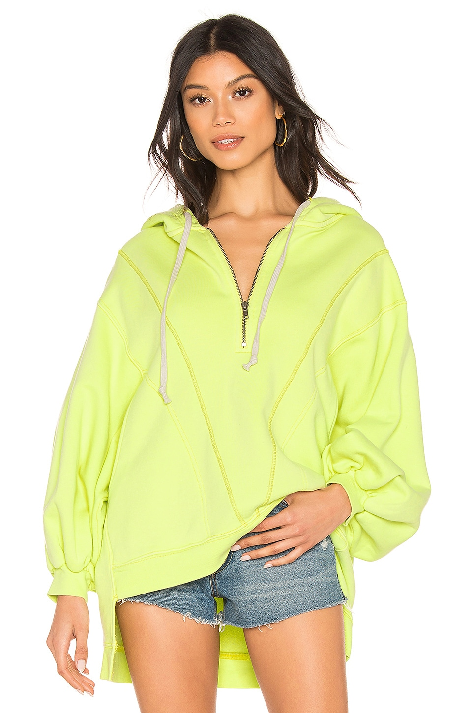 Free People High Road Pullover in Light Yellow