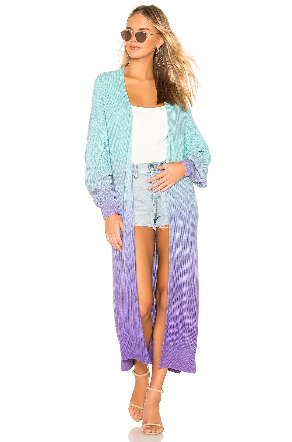 Free People Come Together Cardigan in Blue Combo