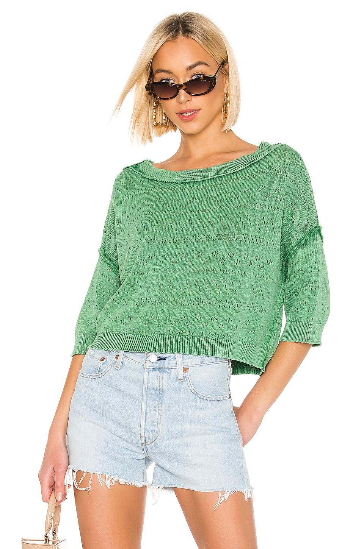 Free People Sand Castle Sweater in Green