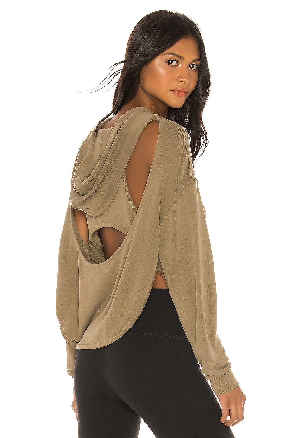 Free People Movement Back Into It Hoodie in Army
