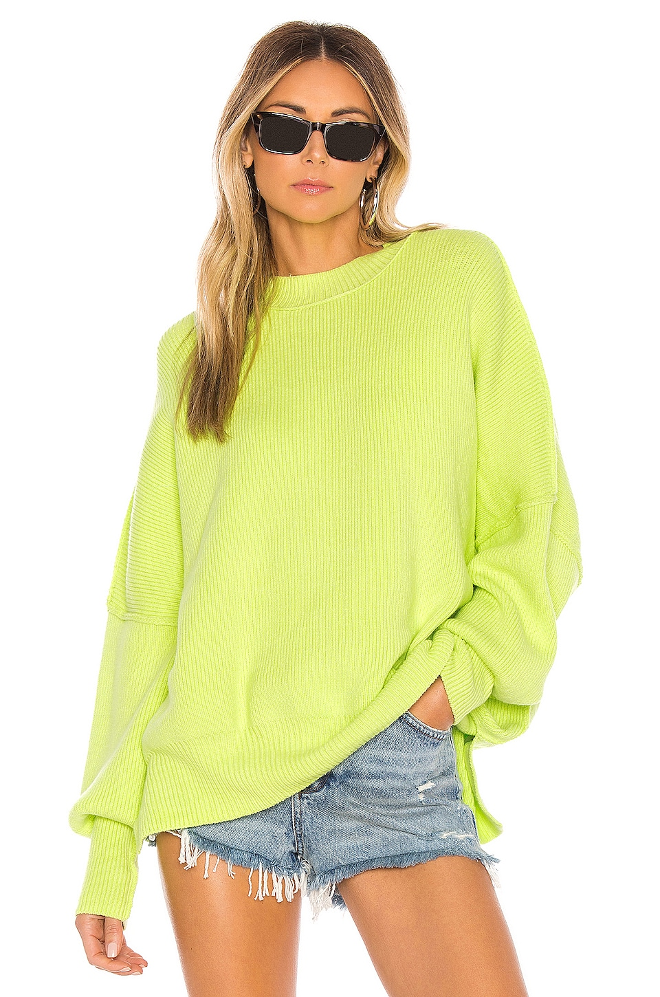 Free People Easy Street Tunic in Lime