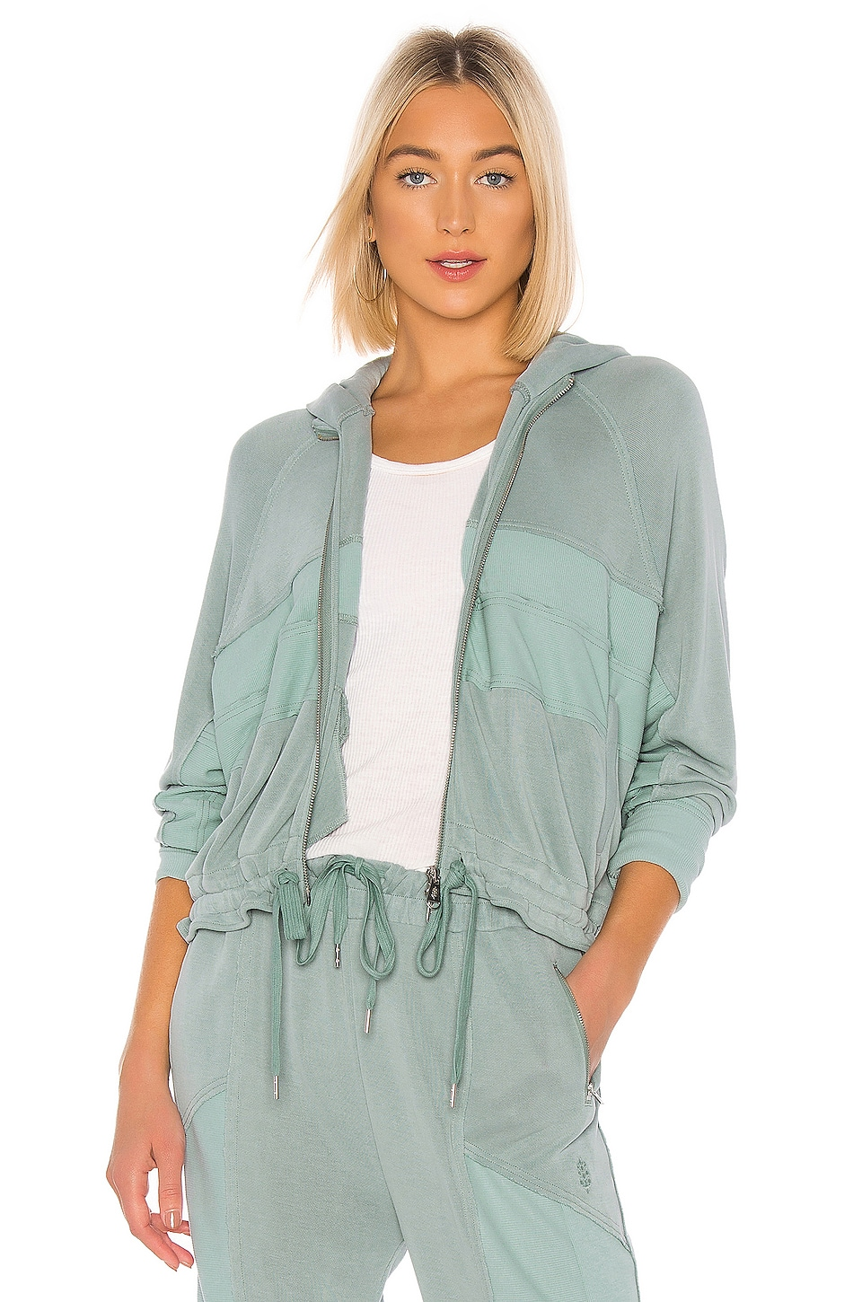 Free People Movement Trekking Out Sweatshirt in Light Green