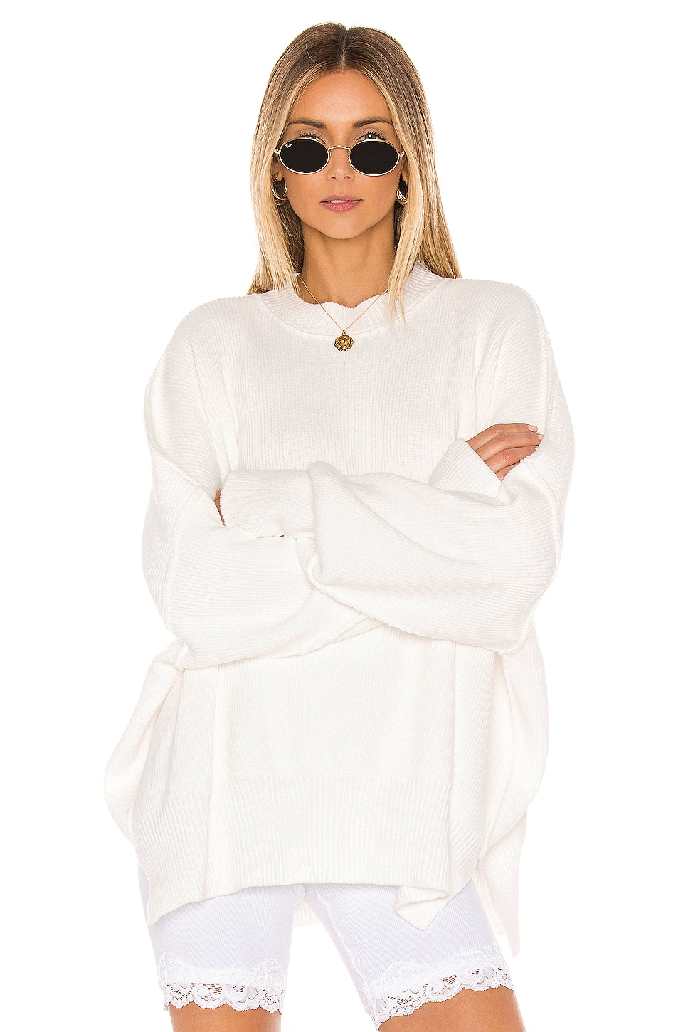 Free People Easy Street Tunic in White