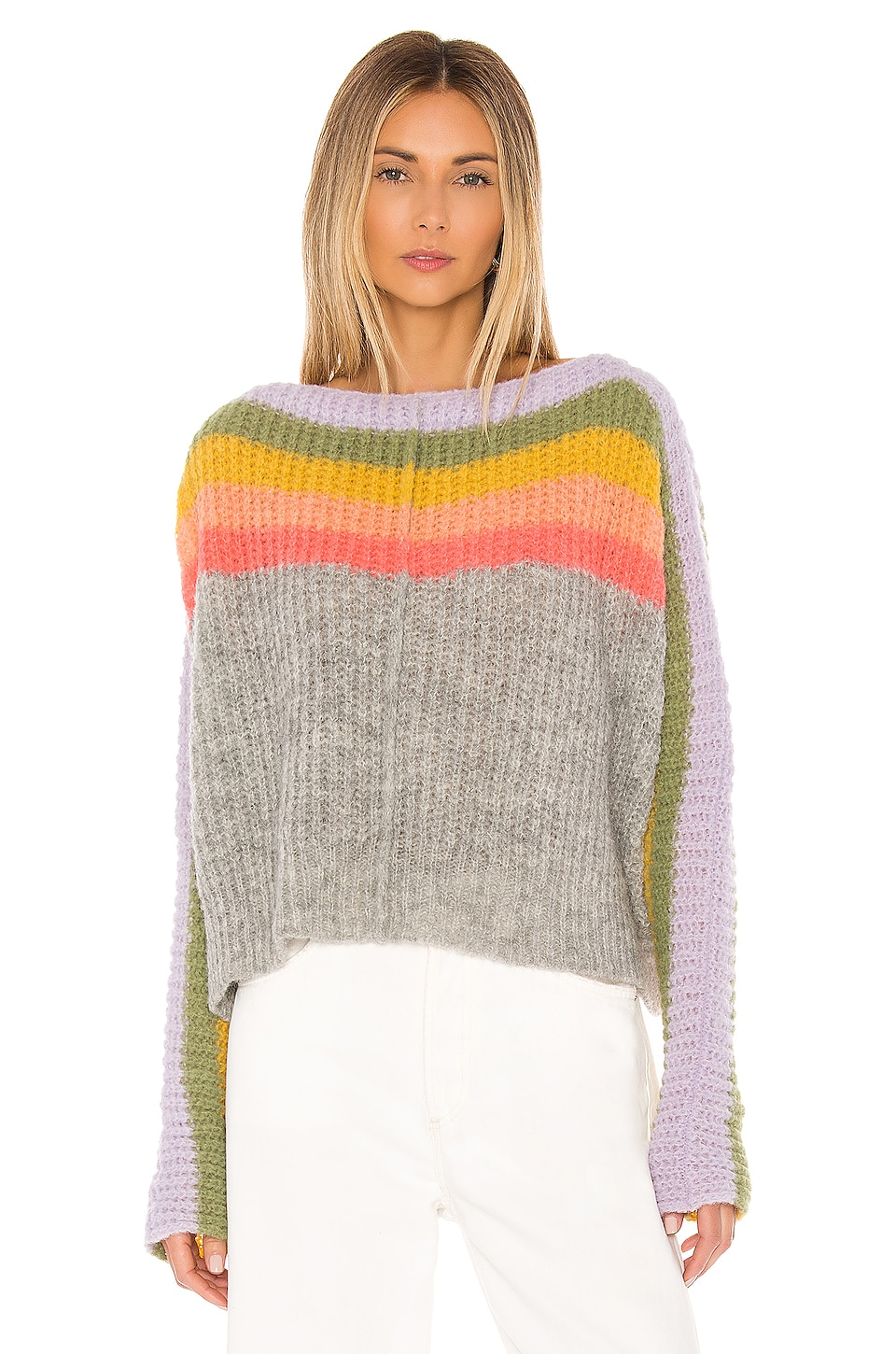 Free People JERSEY DE CUELLO REDONDO SEE THE RAINBOW