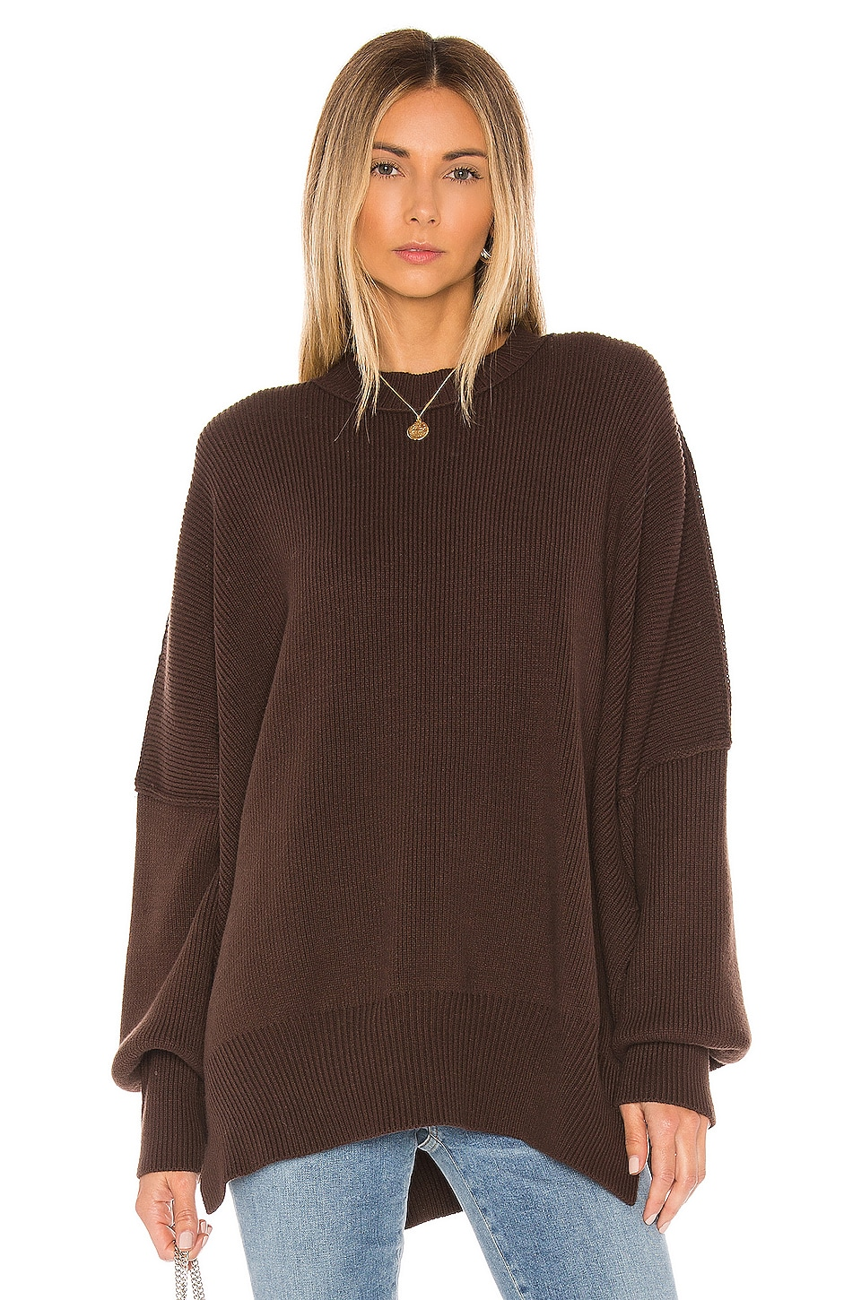 Free People Easy Street Tunic in Chocolate