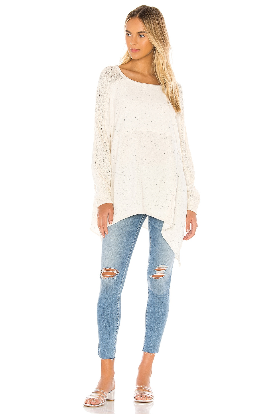 Free People My Girl Pullover in Ivory