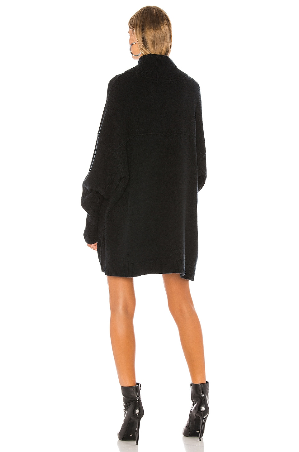 Afterglow Mock Neck Sweater Dress, view 3, click to view large image.