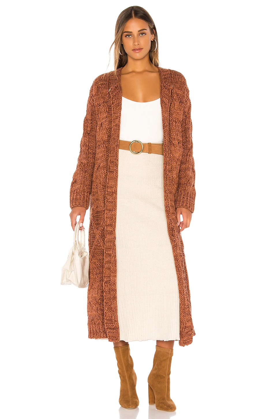 Free People Keep In Touch Cardigan in Copper