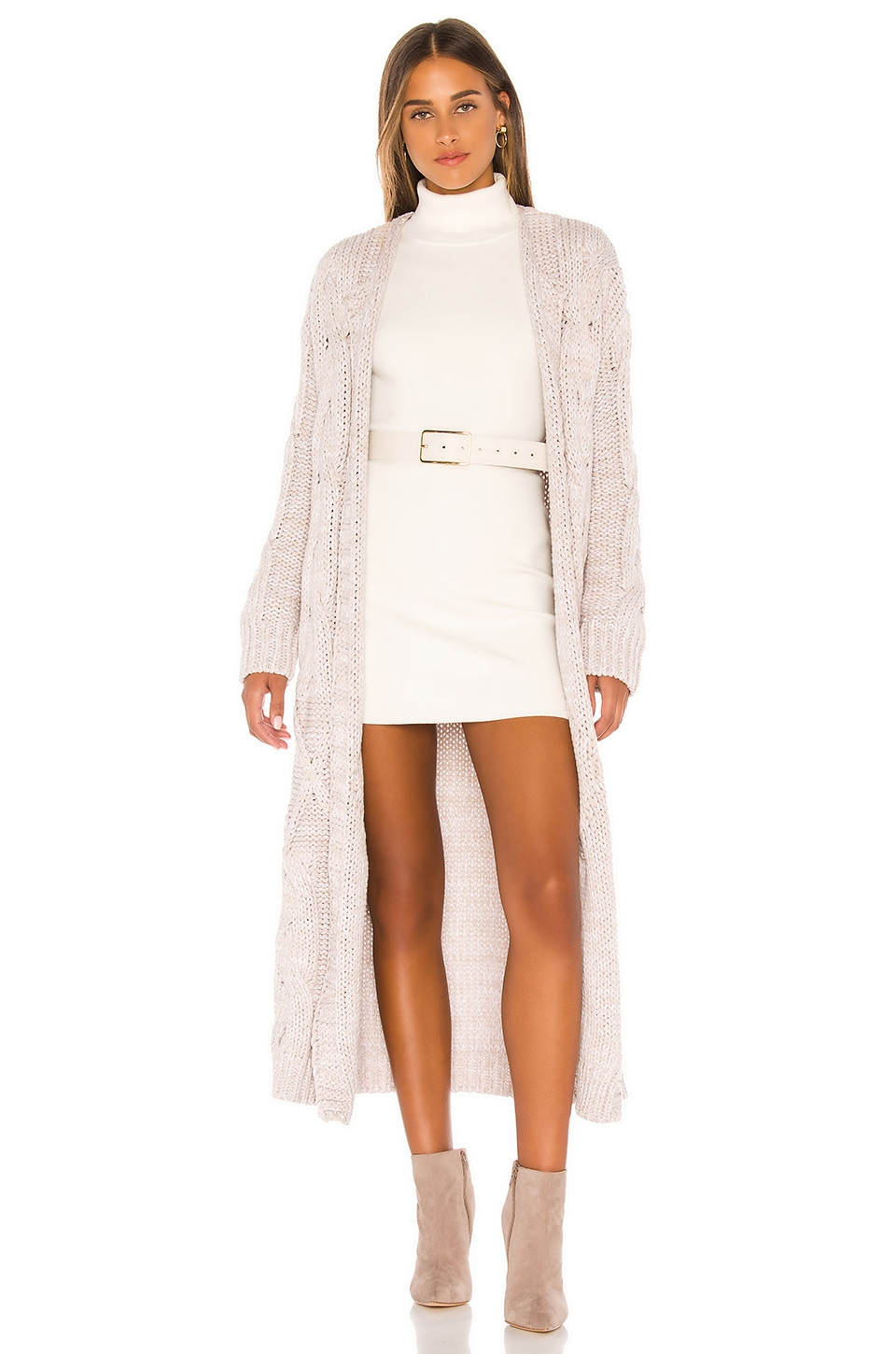 Free People Keep In Touch Cardigan in White