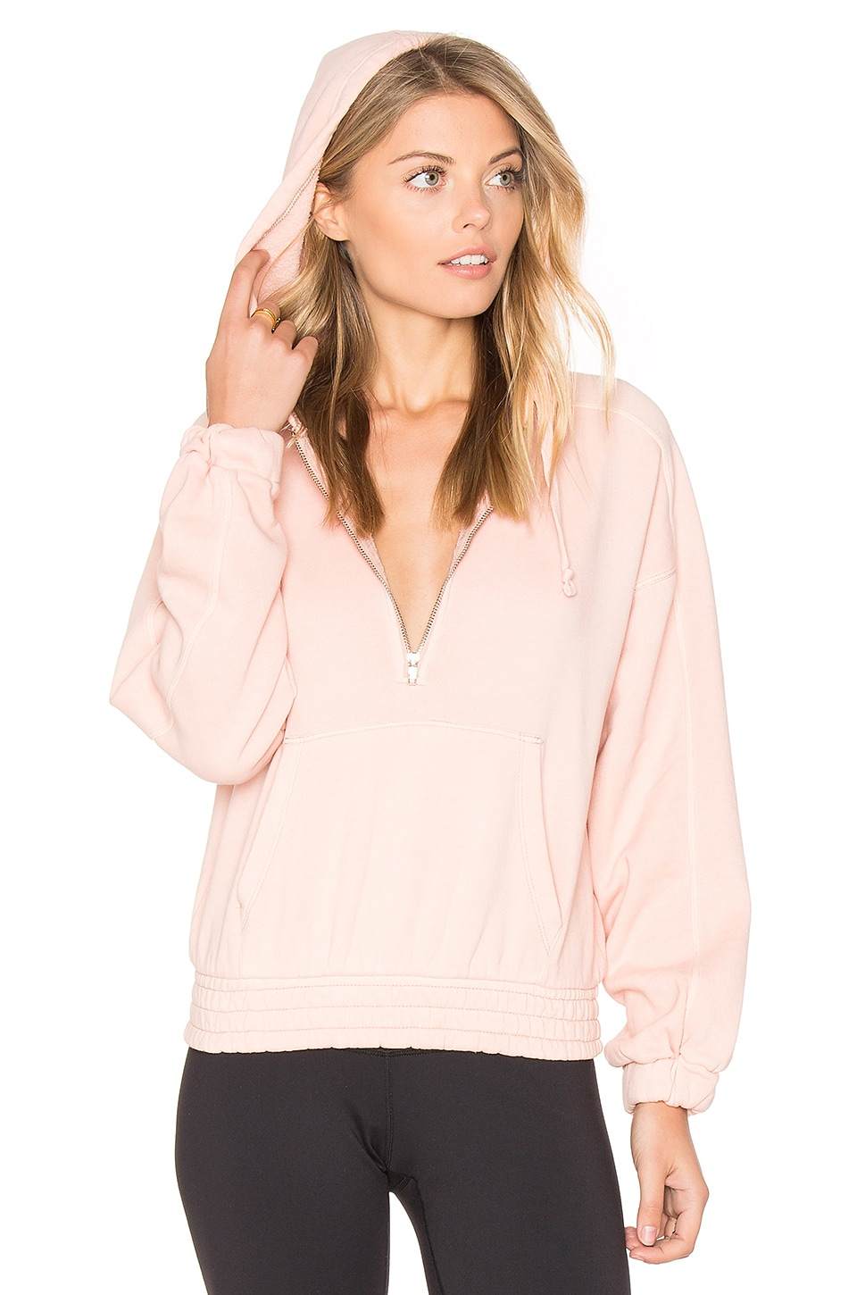 Free People Retro Vibes Hoodie in Rose Cloud