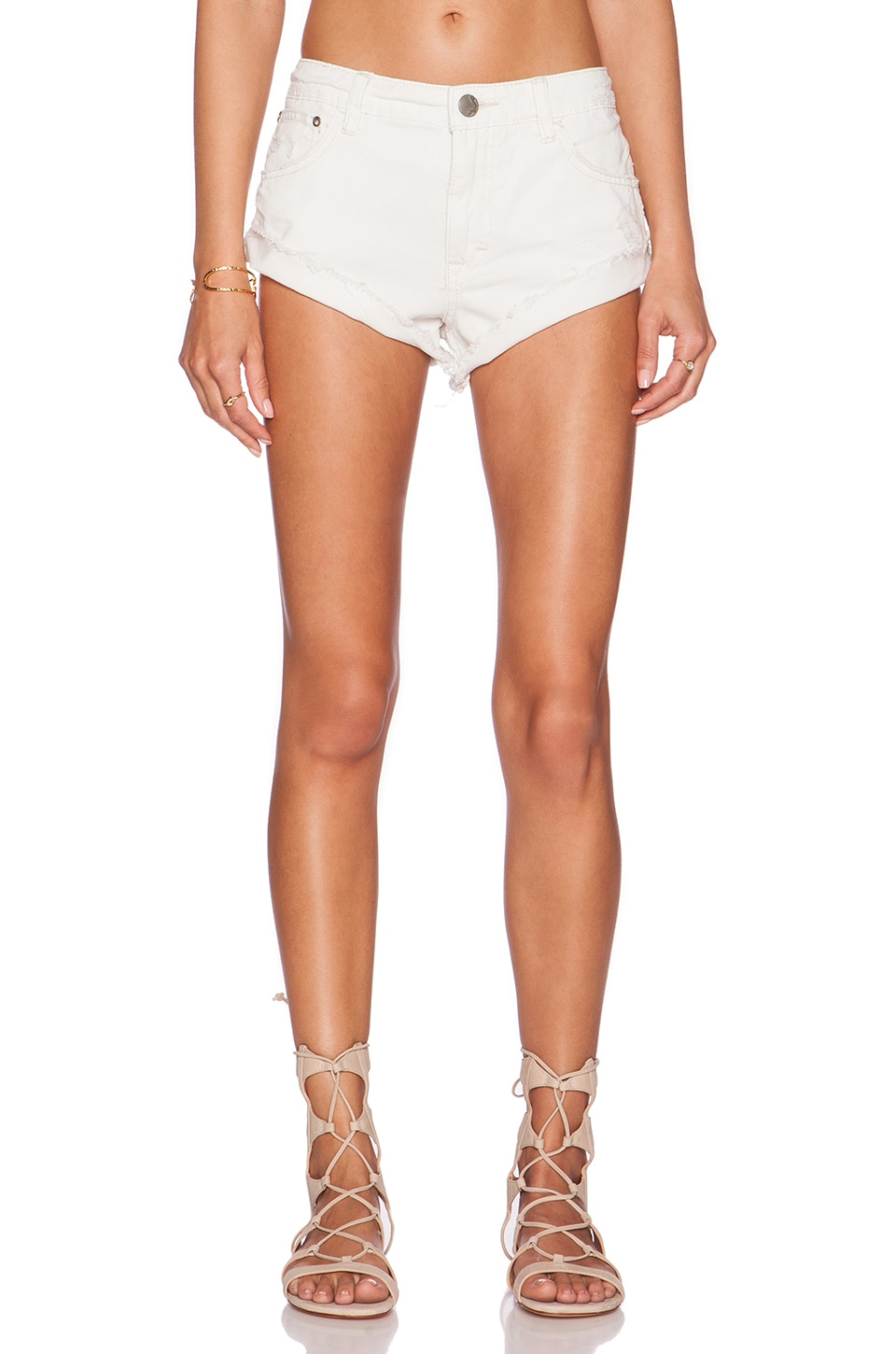 Free People Irreplaceable Cut Off Short in Polar White