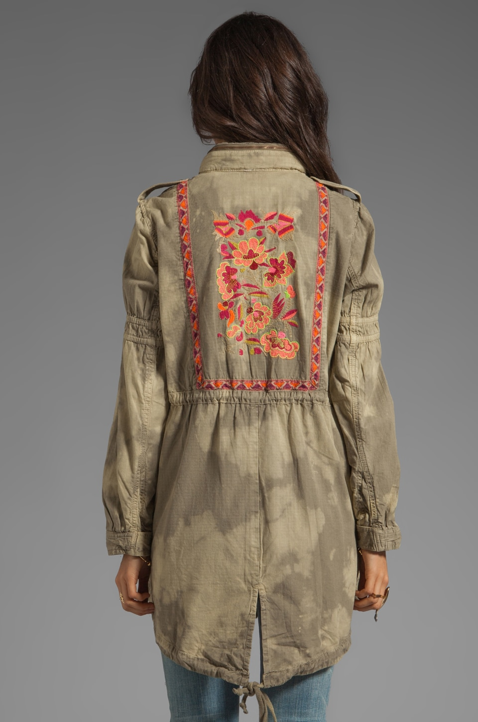 Free People Festival Anorak in Army Combo