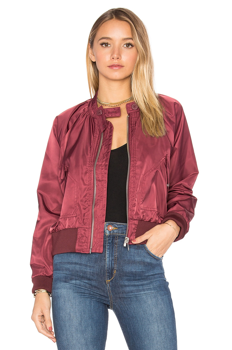 Free People Midnight Bomber in Wine