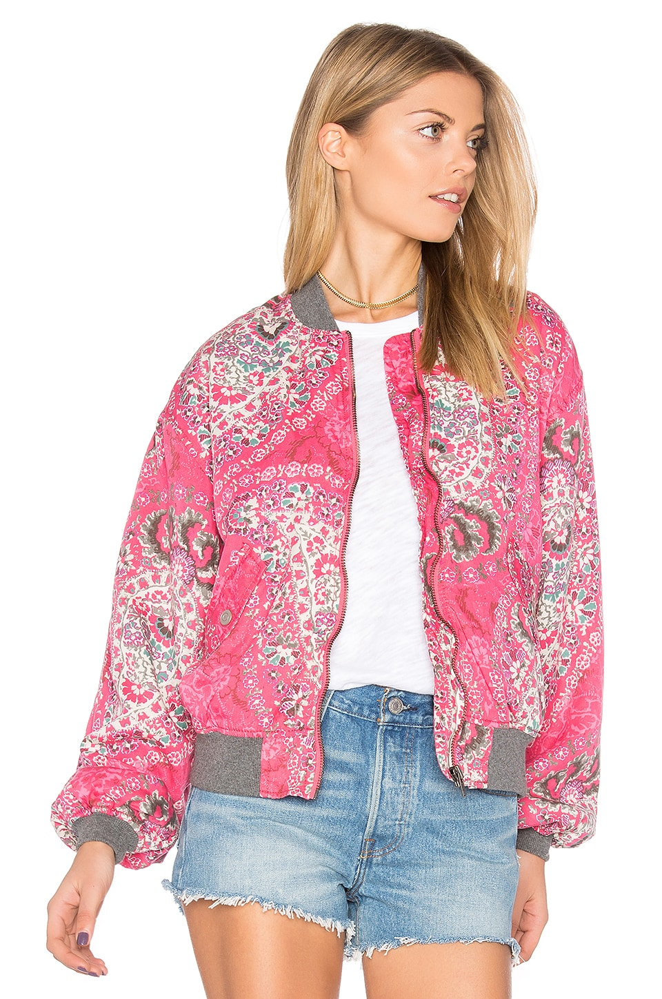Printed Bomber by Free People