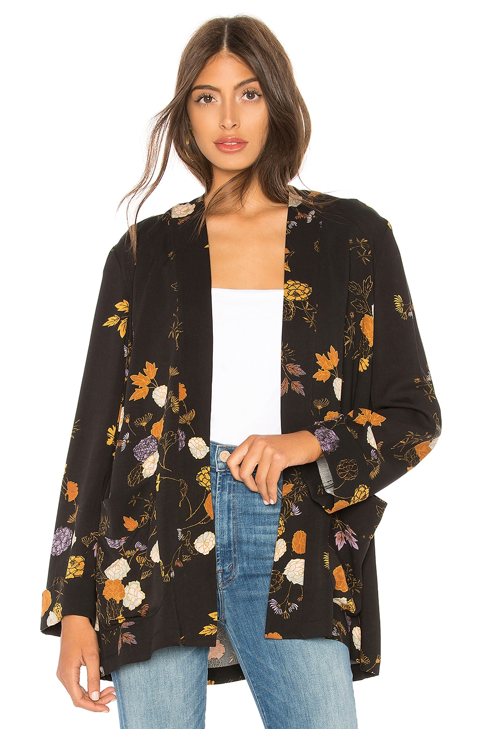 Free People Peony Wrap Jacket in Midnight